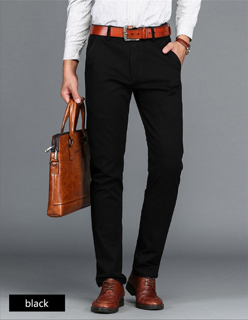 Men's High Quality Cotton Stretch Business Pants
