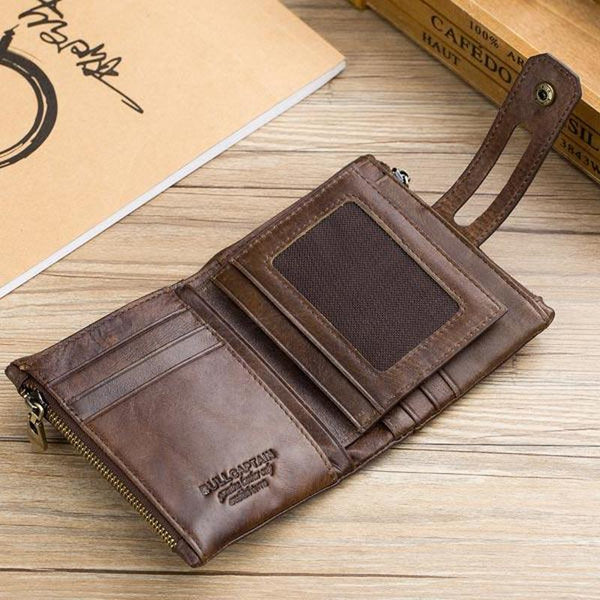 Men's RFID Anti-Magnetic Vintage Genuine Leather 14 Card Slot Wallet