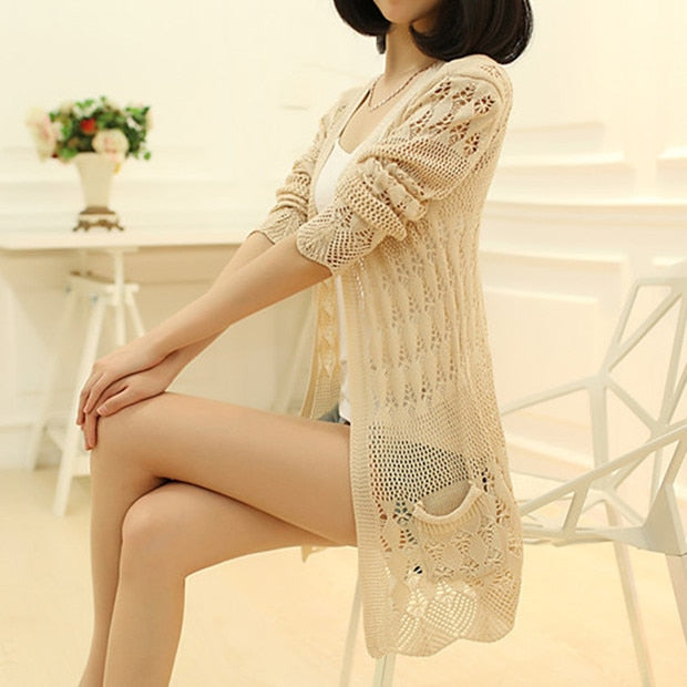 Women's Thin Knit Cardigan