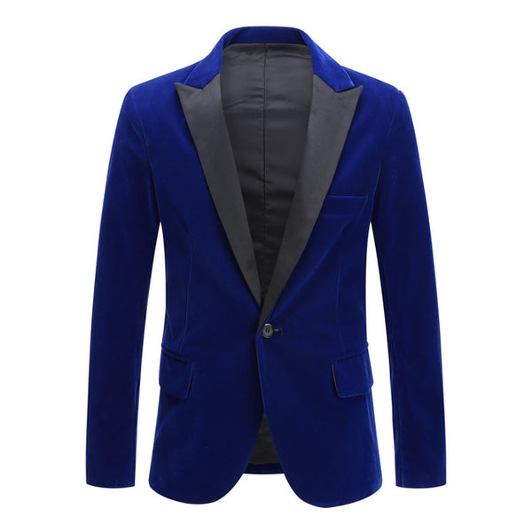 Men's Velvet Leisure Suit Jacket