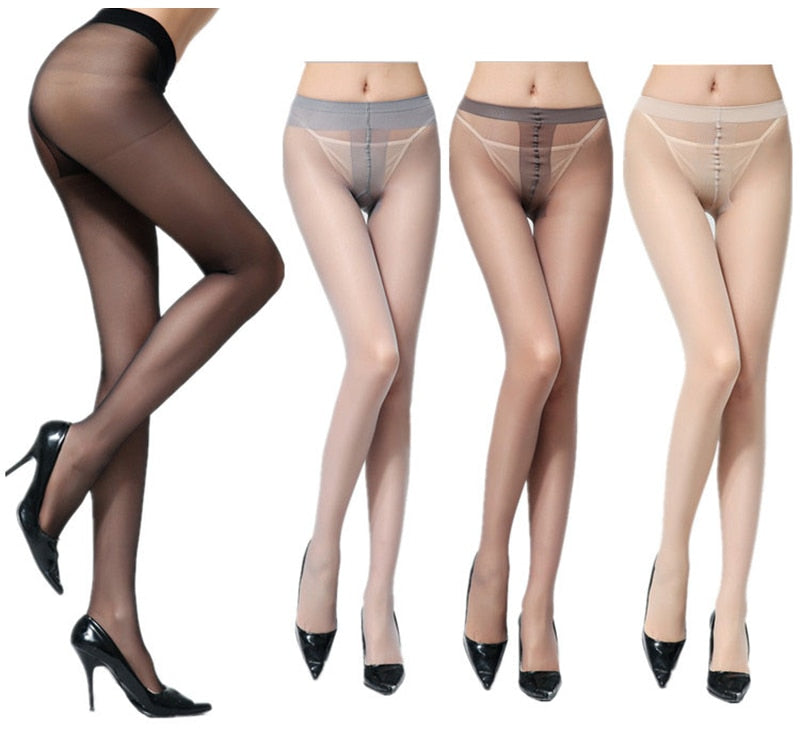 Women's Sexy Thin Tights High Waist Elastic Pantyhose