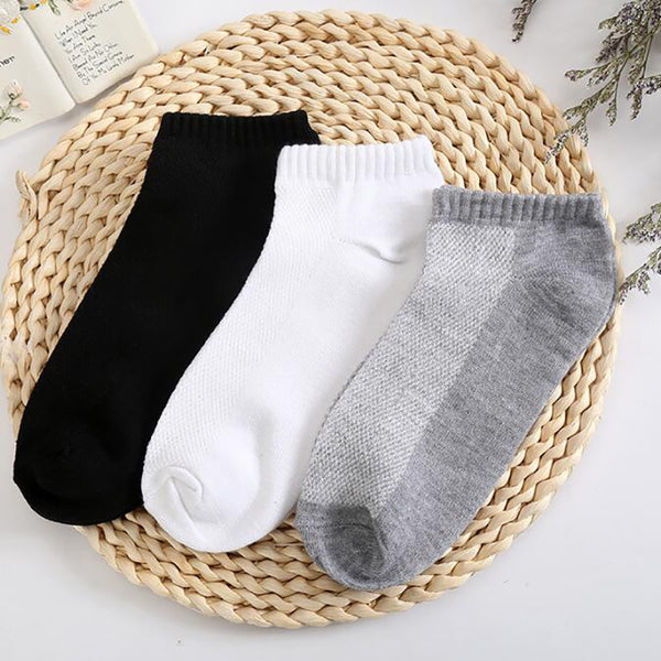 Men's Solid Mesh Invisible Ankle Socks
