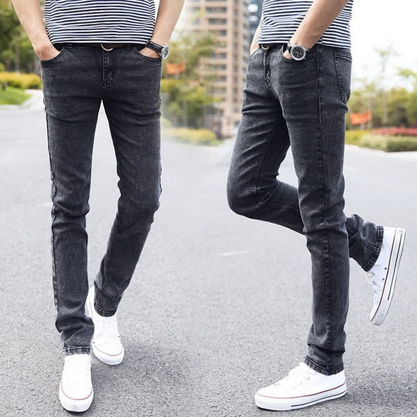 Men's Denim Distressed Skinny Jeans