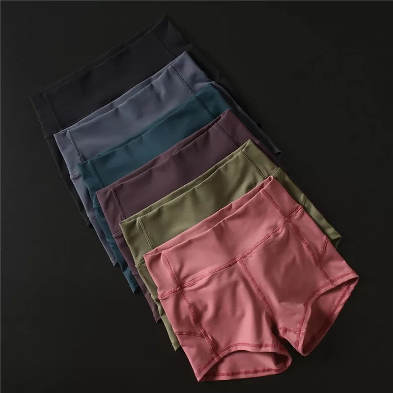 Women's High Waist Soft Nylon Fitness Jogger Shorts