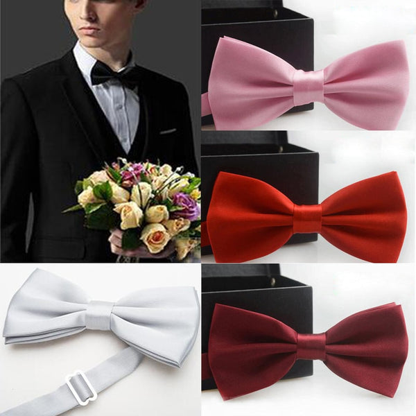 Men's Solid Color Bow Tie