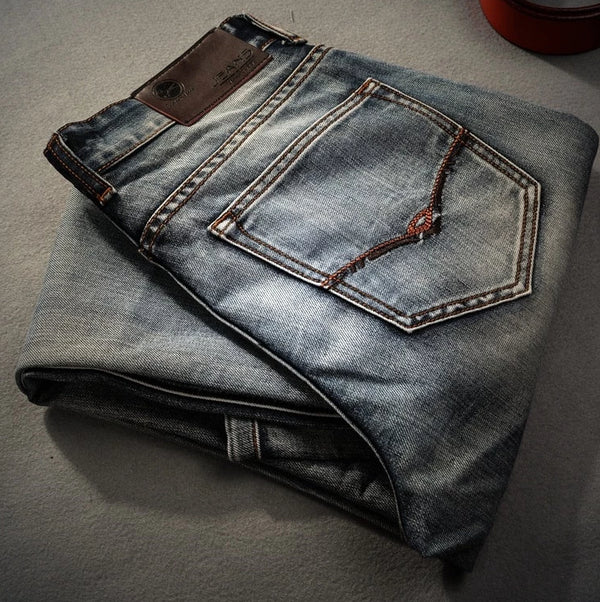 Men's Retro Nostalgia Straight Leg Denim Jeans