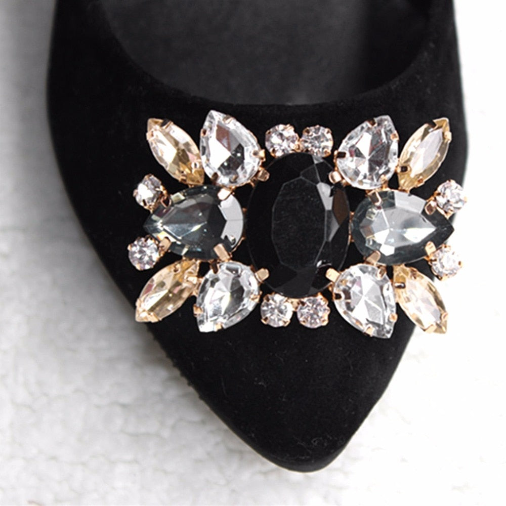 Women's Rhinestone Shoe Clips 2pc Set