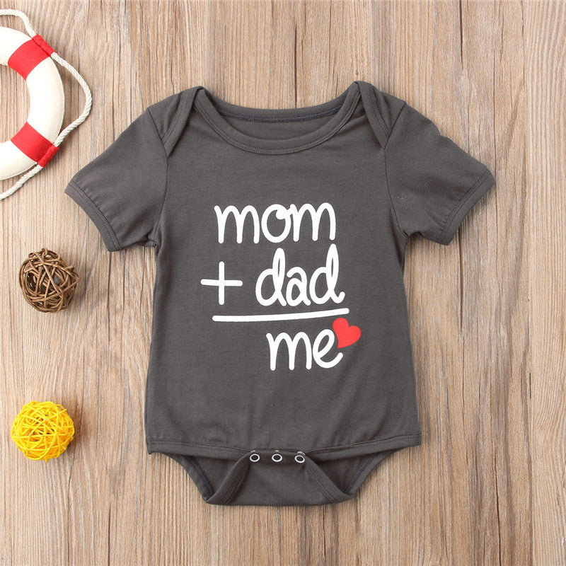 Kid's Baby Boys Onesie Mom+Dad=Me
