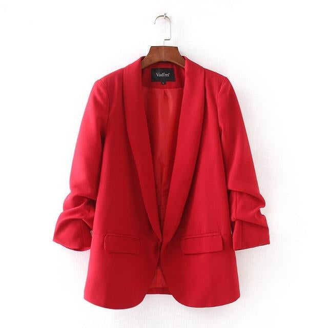 Women's Elegant Three Quarter Sleeve Blazer