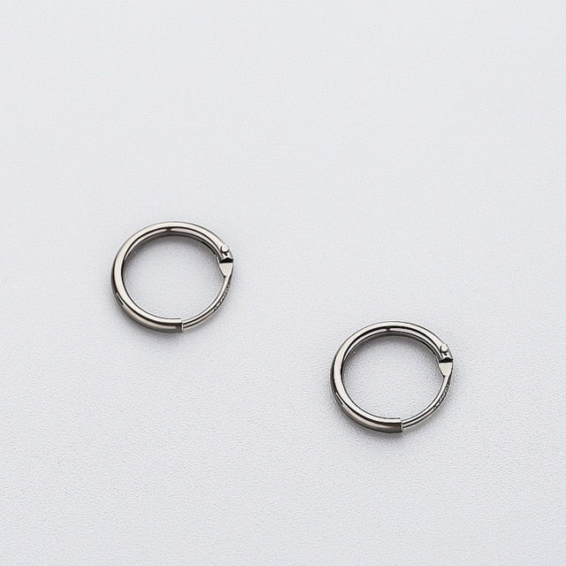 Women's 925 Sterling Silver Smooth Round Hoop Earrings