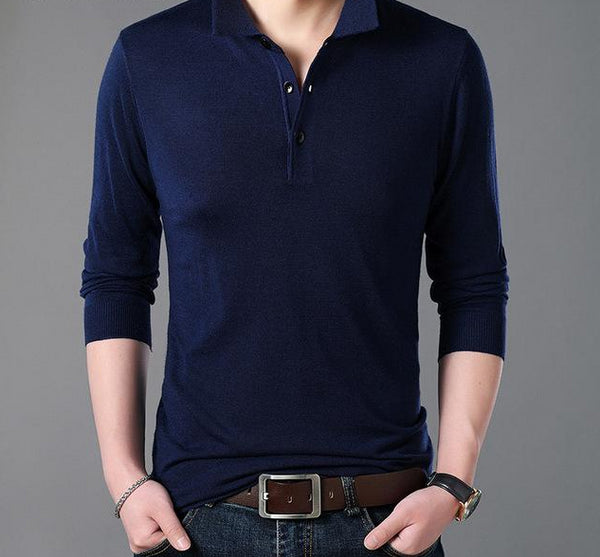 Men's Winter Pullover Open Neck Sweater