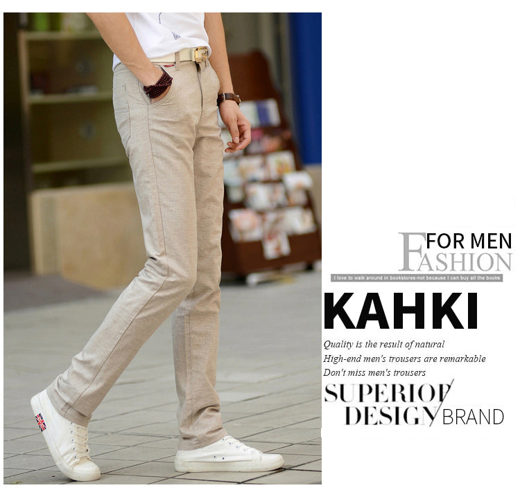 Men's Casual Linen Canvas Pants