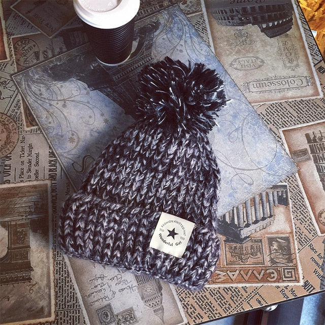Women's Thick Warm Winter Beanie Hat