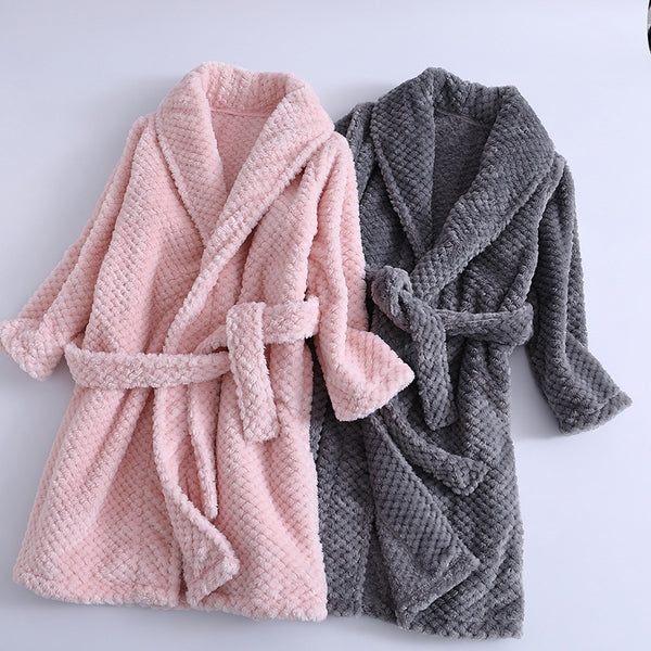 Kid's Girls Flannel Fleece Bath Robes