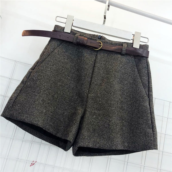 Women's High Waist Wide Leg Shorts