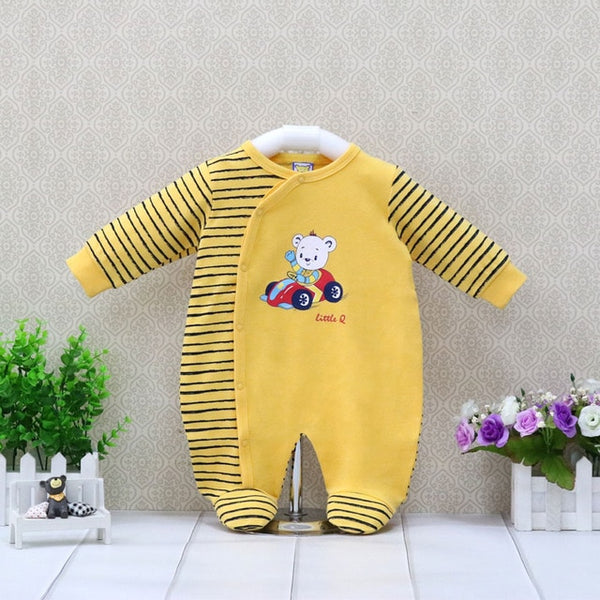 Boys Pure Cotton Rompers 0-12 Months