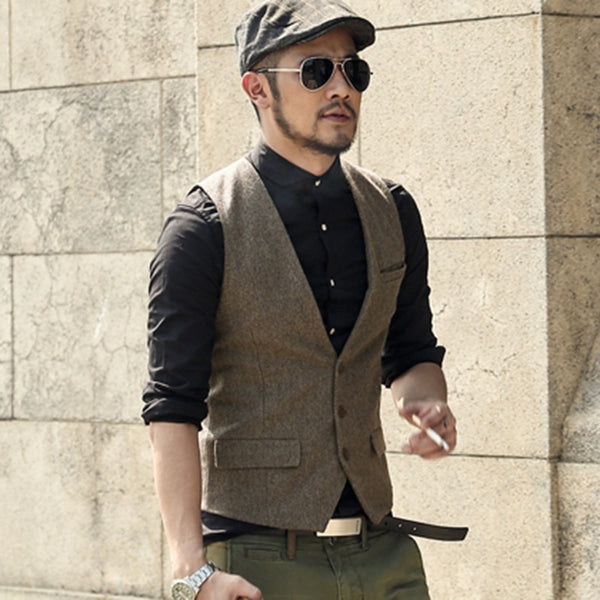 Men's Formal Suit 3 Button Vest