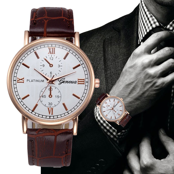 Men's Classic Stainless Steel Ultra Thin Watch