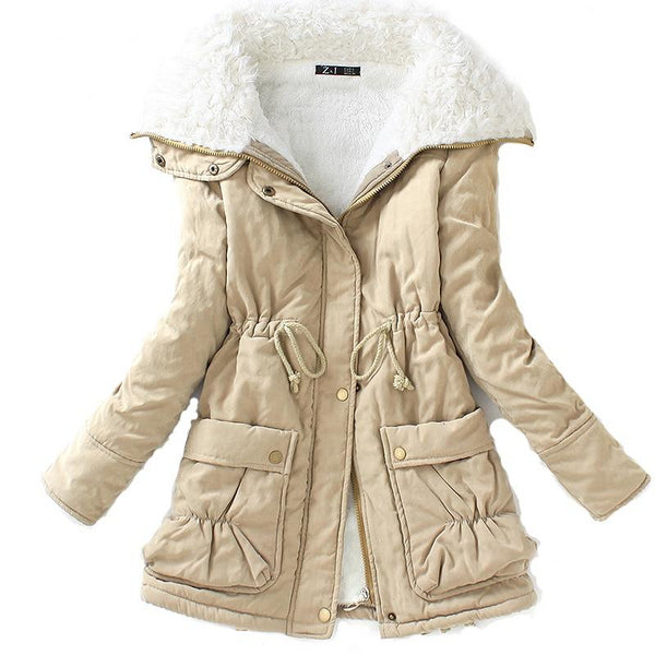 Women's Cotton Winter Medium-Long Coat