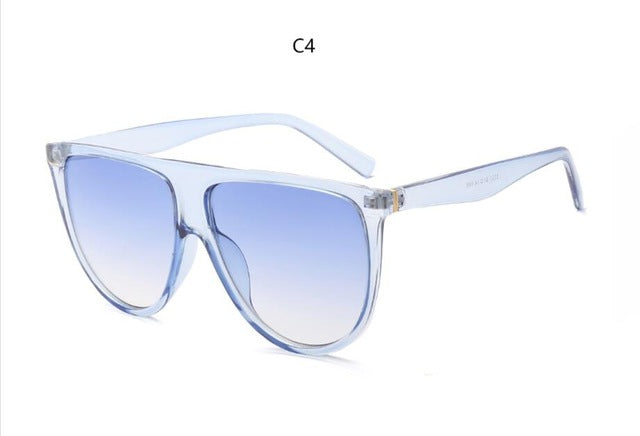 Women's Vintage Retro Flat Top Gradient Lens Sunglasses