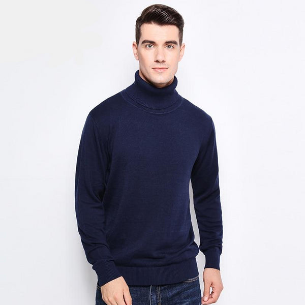 Men's Slim Fit Turtleneck Pullover