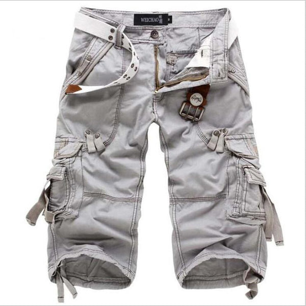 Men's Long Loose Fit Summer Cargo Shorts