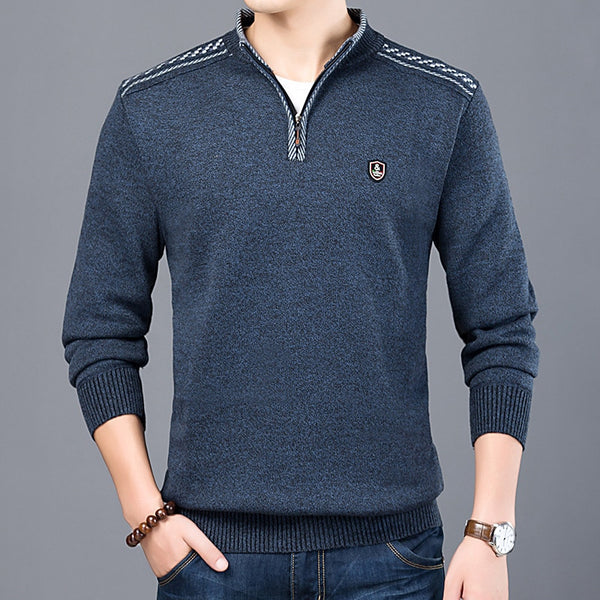 Men's Thick Warm Winter Zipper Sweater