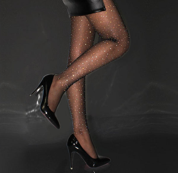 Women's Diamond Accent Fishnet Tights