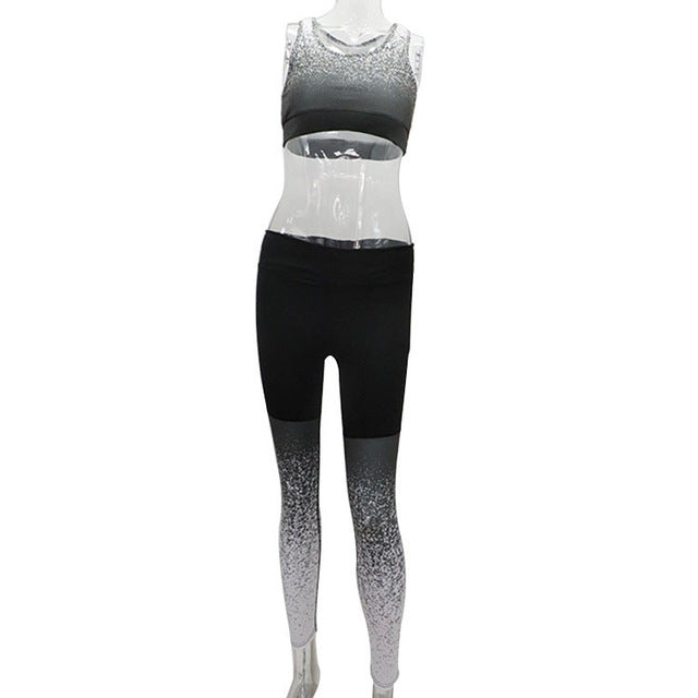 Women's Starry Sky Yoga Set Running Sportswear