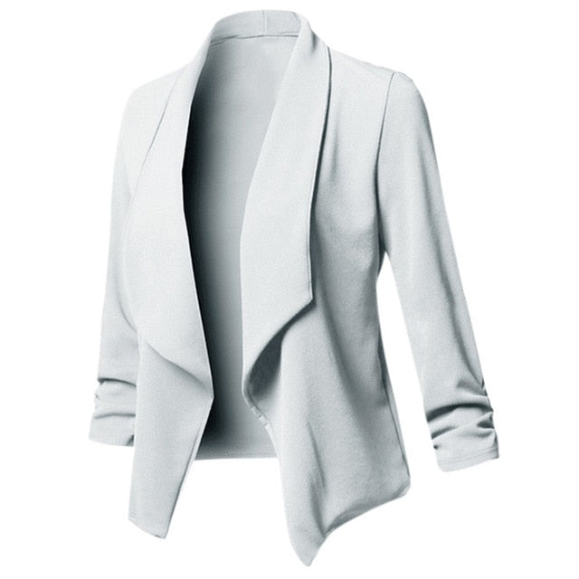 Women's Solid Wide Breast Blazers