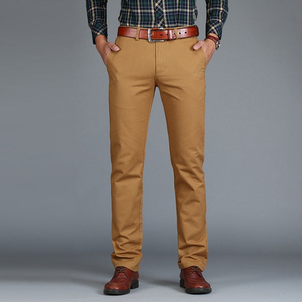 Men's Straight Loose Cotton Business Pants