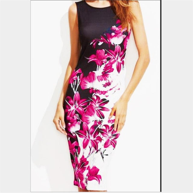 Women's Sleeveless Slim Pencil Dress