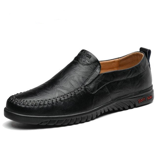 Men's Genuine Leather Casual Slip On Flats