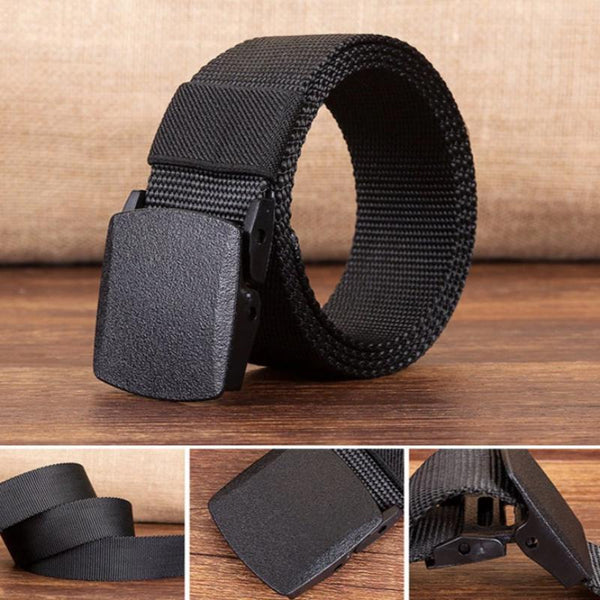 Men's Military Style Adjustable Belt