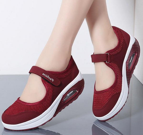 Women's Platform Breathable Mesh Strapped Shoes