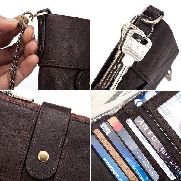 Men's 100% Genuine Leather RFID Wallet