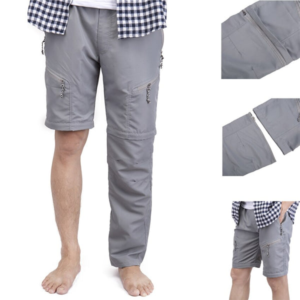 Men's Convertible Shorts Pants with Pockets