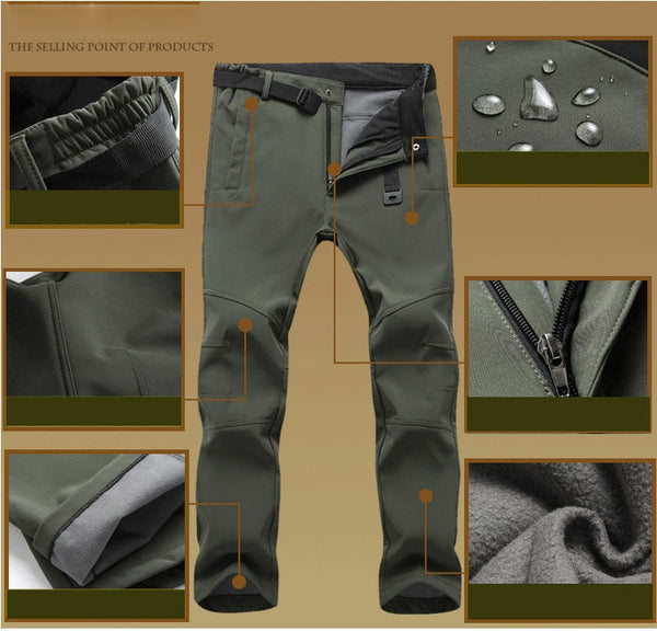Men's Stretch Fit Waterproof Thermal Work Pants