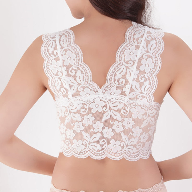 Women's Lace Bralette Tank Top Bra