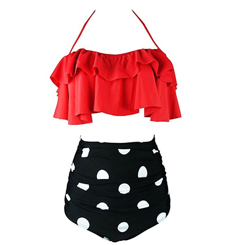 Women's High Waist Two Piece Swimsuit