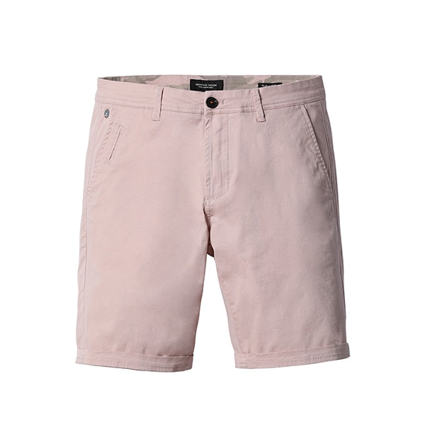 Men's Casual Slim Fit Knee Length Solid Cotton Shorts