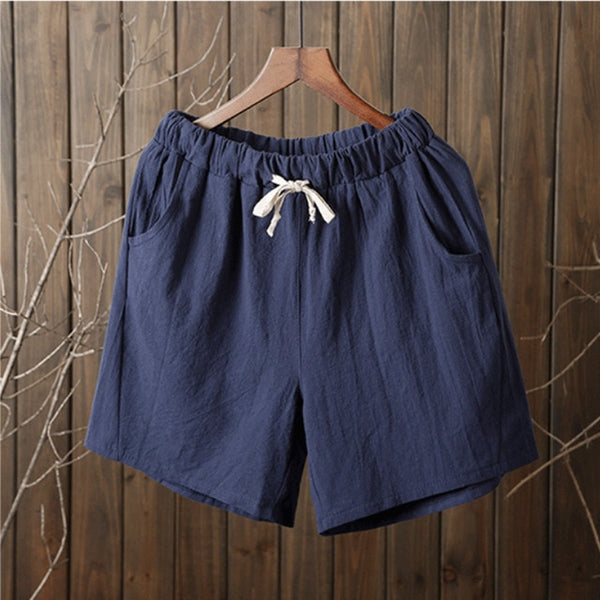 Women's Cotton Elastic Waist Shorts