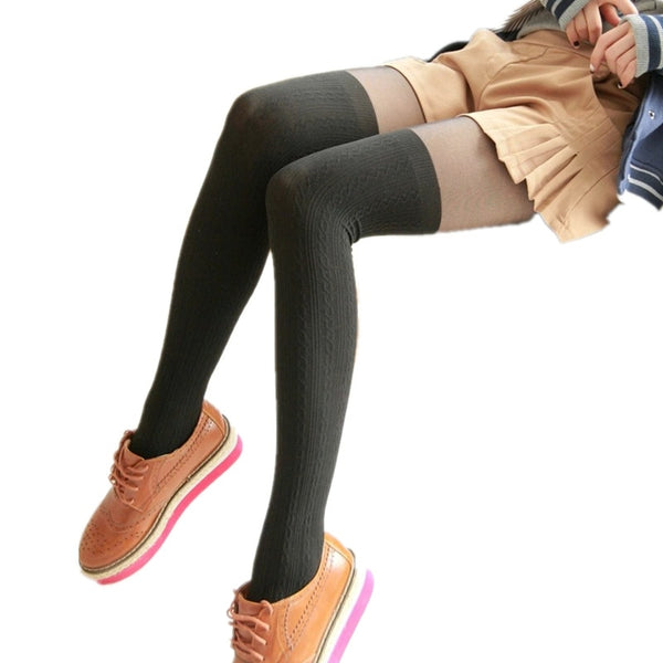 Women's Twisted Knee High Tights