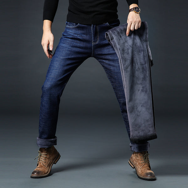 Men's Thick Warm Denim Jeans