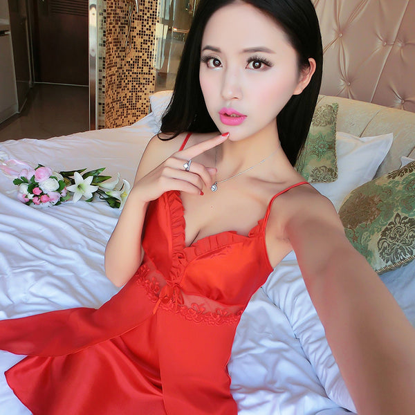 Women's Lingerie Nightgown Casual Ladies Sleepwear