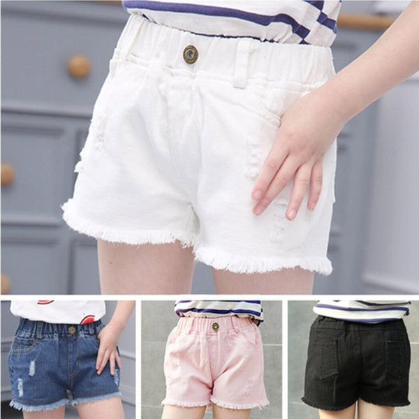 Kid's Girls Denim Shorts with Pockets