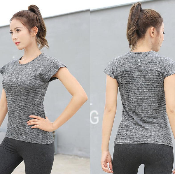 Women's Yoga Mesh Quick Dry Fitness Shirt