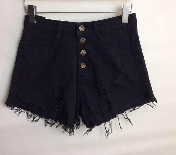 Women's High Waist Denim Jean Shorts