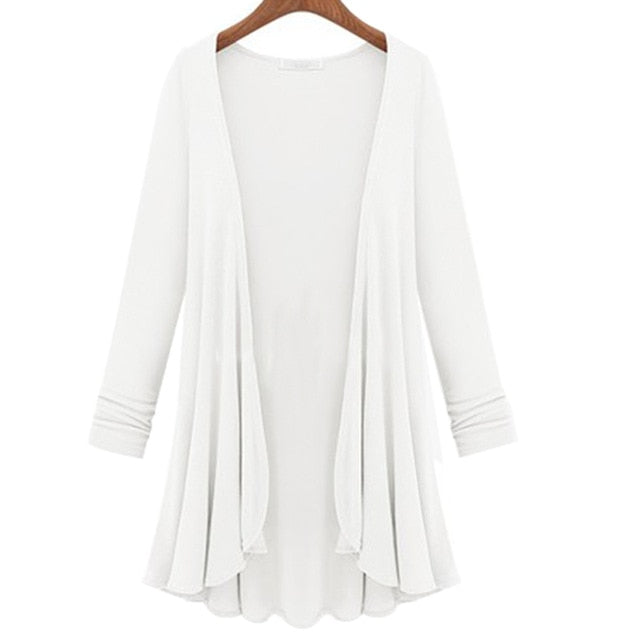 Women's Cotton Long Sleeve Summer Cardigan Sweater