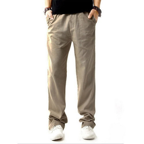 Men's Healthy Anti-Microbial Hemp Linen Breathable Drawstring Pants